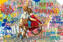 Work Well Together by Mr. Brainwash - Original on Paper sized 36x24 inches. Available from Whitewall Galleries
